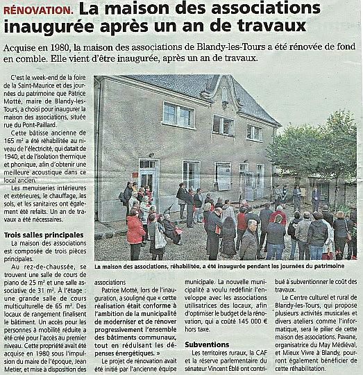 Article REP inauguration locaux associatifs