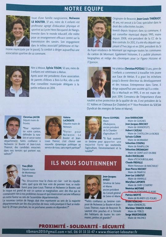 Soutien LR départementales 2015