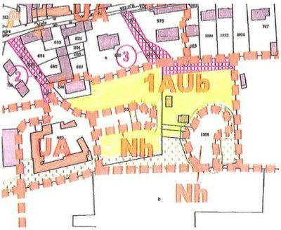 Rue Saint Martin, zone 1UAb constructible sous conditions